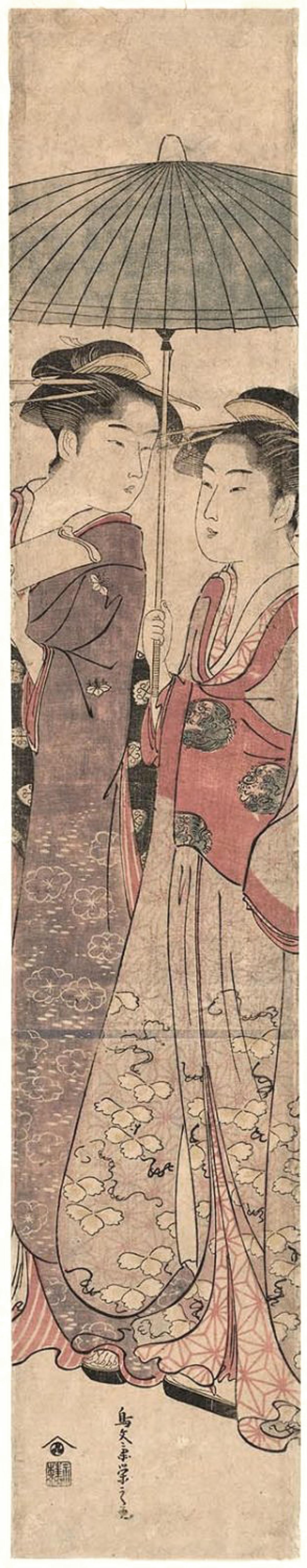 Eishi Hosoda / Zwei Frauen unter Schirm
