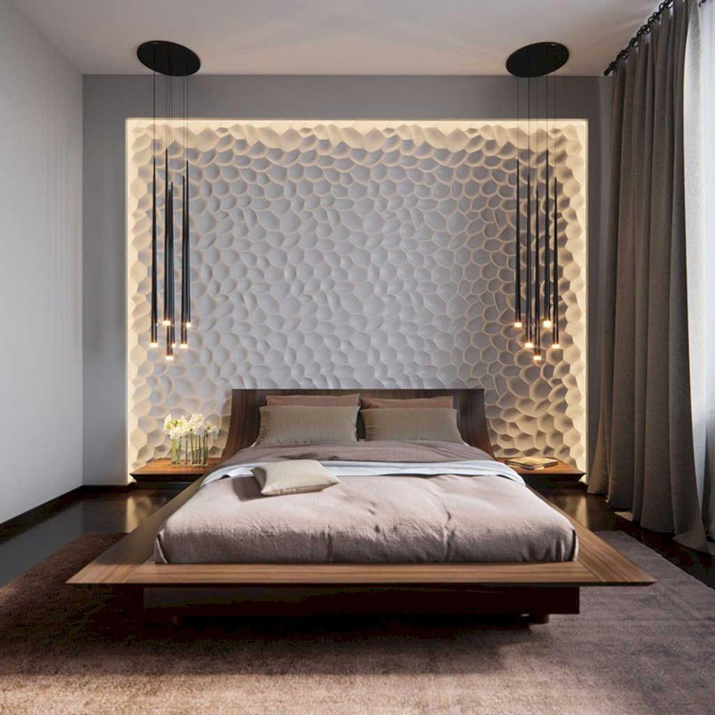 Modern Yatak Odası Yatak Başı Tasarımları | Decoration | Pinterest ...