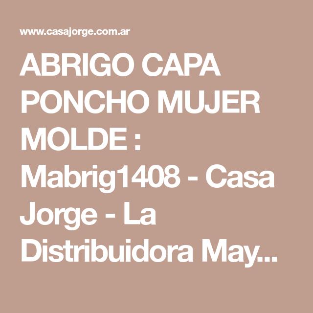5f9522c00 ABRIGO CAPA PONCHO MUJER MOLDE : Mabrig1408 - Casa Jorge - La ...