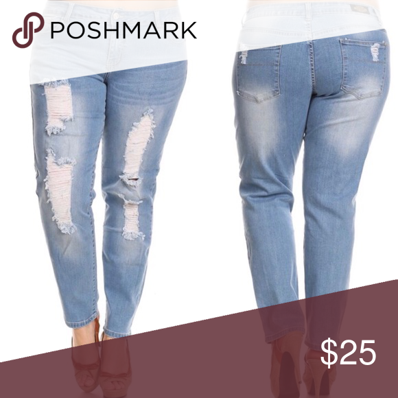 76333695443 👖NWT Plus Size Destroyed Jeans Plus Size Destroyed Jeans 14-18-20-22-24  Jeans