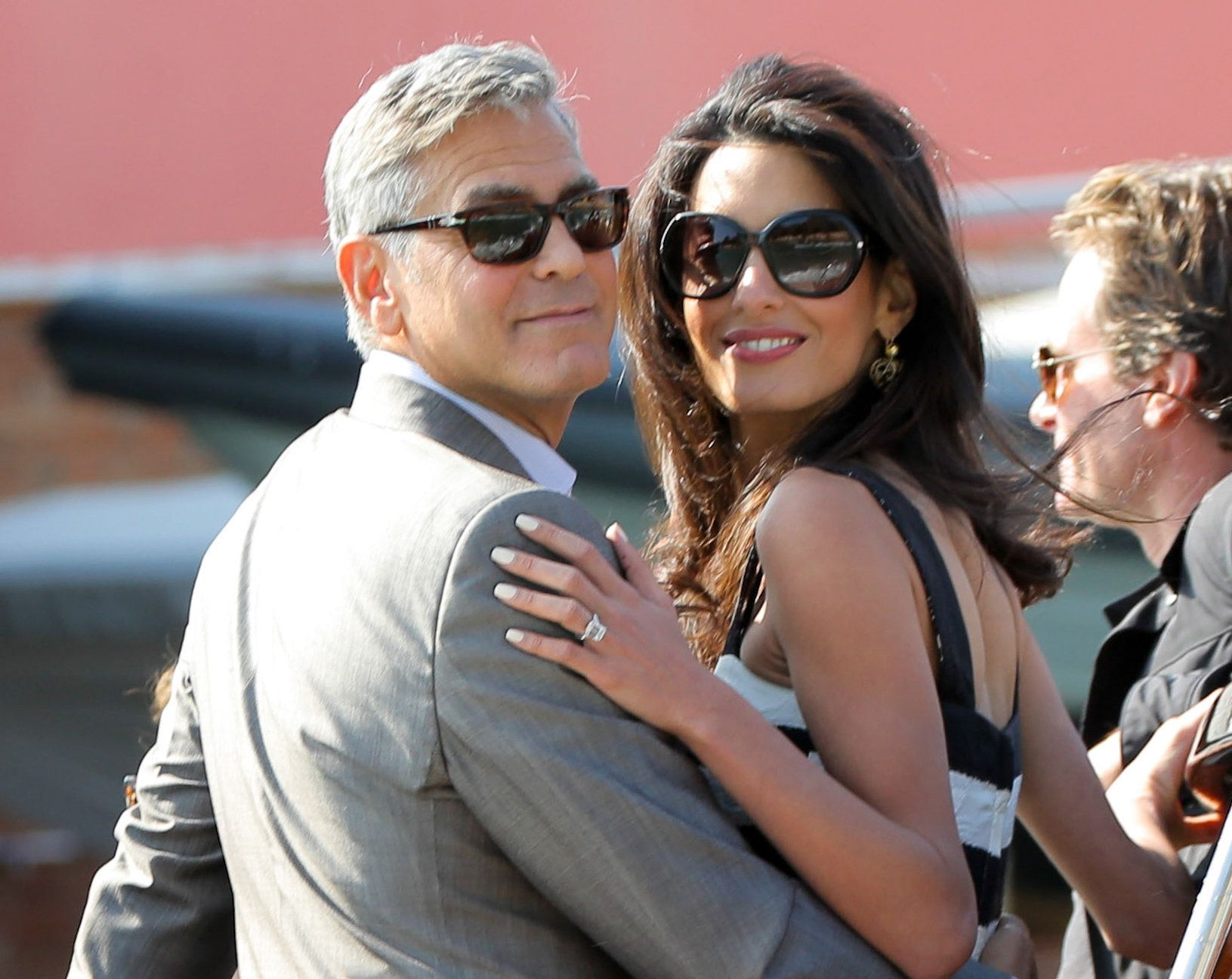 George Clooney and Amal Alamuddin in Venice ahead of their wedding (INFdaily.com)