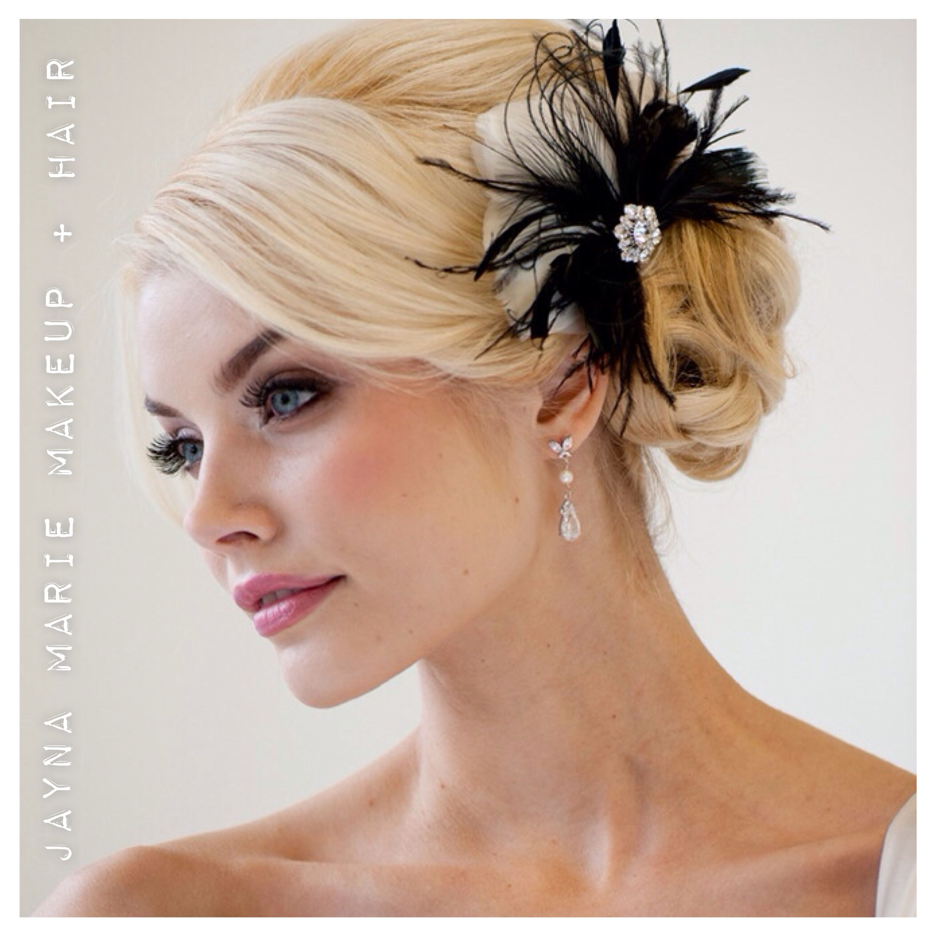 a glamorous bridal makeup and hair style by jayna marie