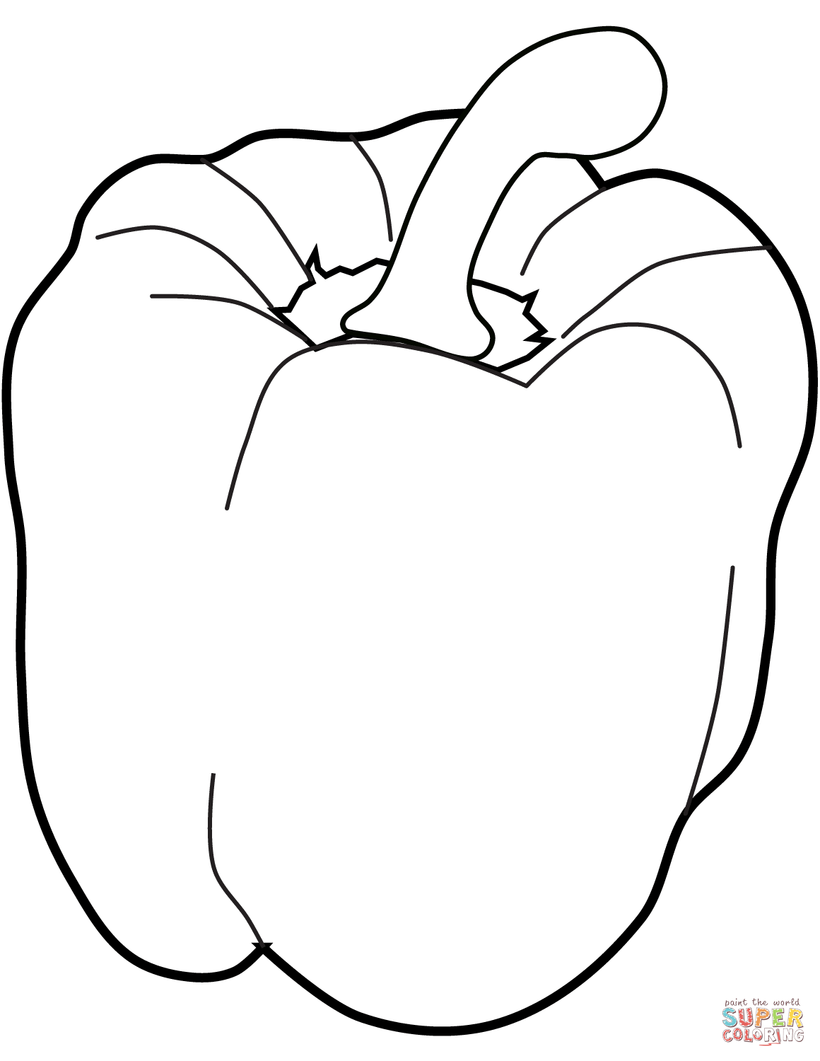Image Result For Bell Pepper Outline Drawing