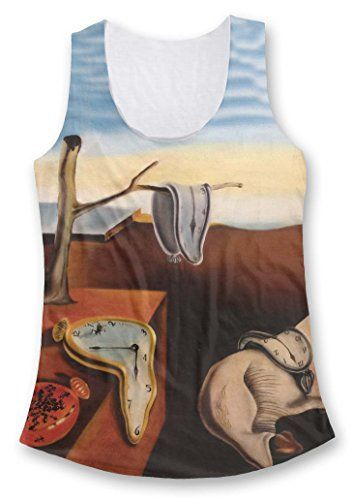 Salvador Dali Clocks Ladies Fashion Tank Top S -- Check out the image by visiting the link.(This is an Amazon affiliate link)