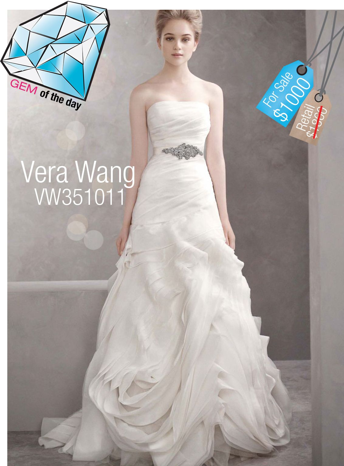 Vera wang pink wedding dress  Vera Wang Used Wedding Gown  off   For more Vera Wang