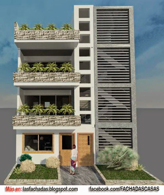 Fachada de vivienda multifamiliar arquitectura for Fachadas apartamentos modernos