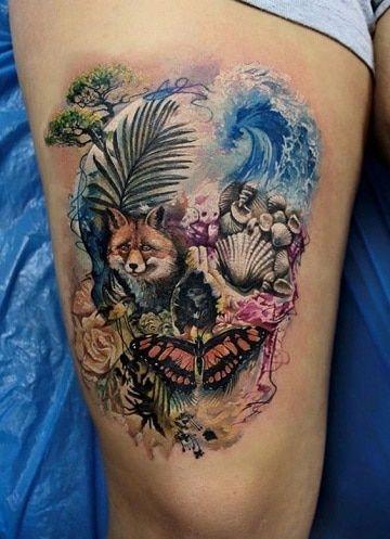 Diseños Para Tatuajes De Calaveras En La Pierna Tattoo Ideas