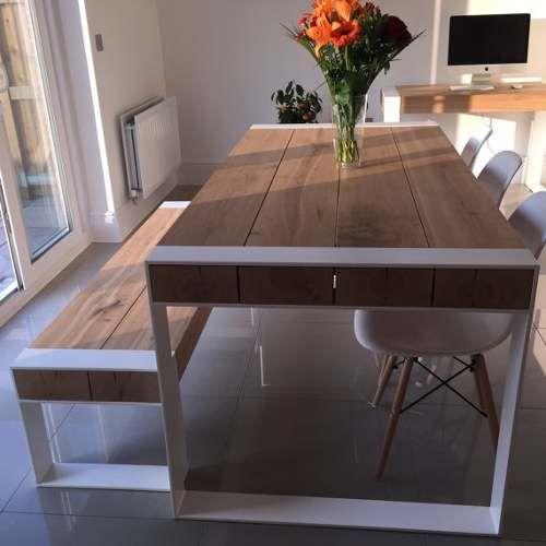 Oferta!mesa industrial hierro madera pinotea moderna y cool ...