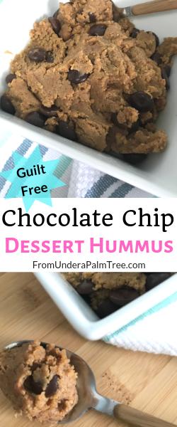 Chocolate Chip Dessert Hummus #desserthummus