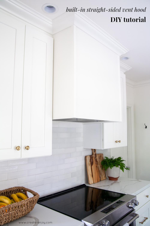 Diy Custom Straight Sided Vent Hood With Zephyr Insert In 2020 Vent Hood Kitchen Vent Kitchen Vent Hood