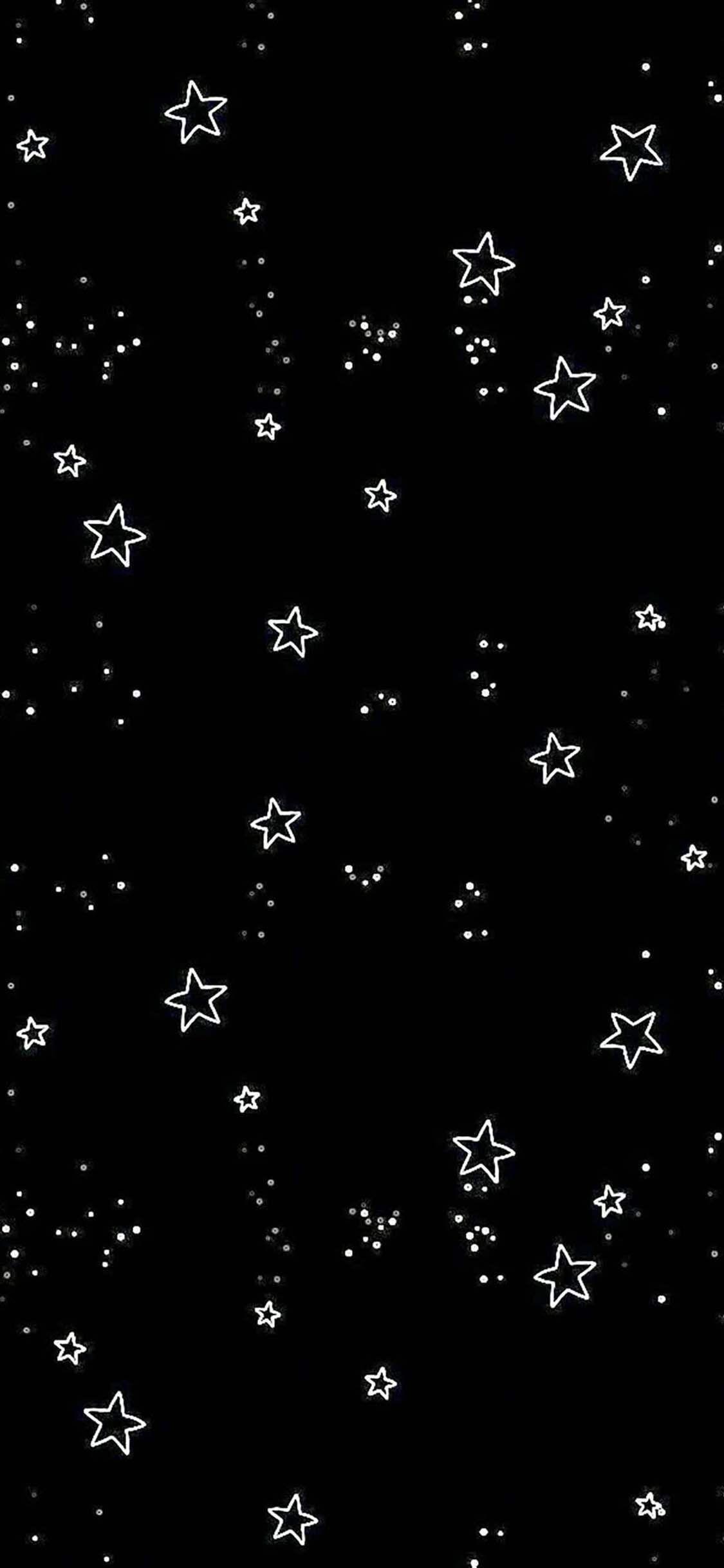Black Phone Wallpaper In 2020 Cool Black Wallpaper Star Wallpaper Black Wallpaper