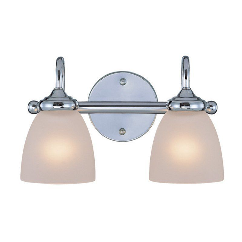 craftmade spencer 26102 2 light bathroom vanity light frosted white