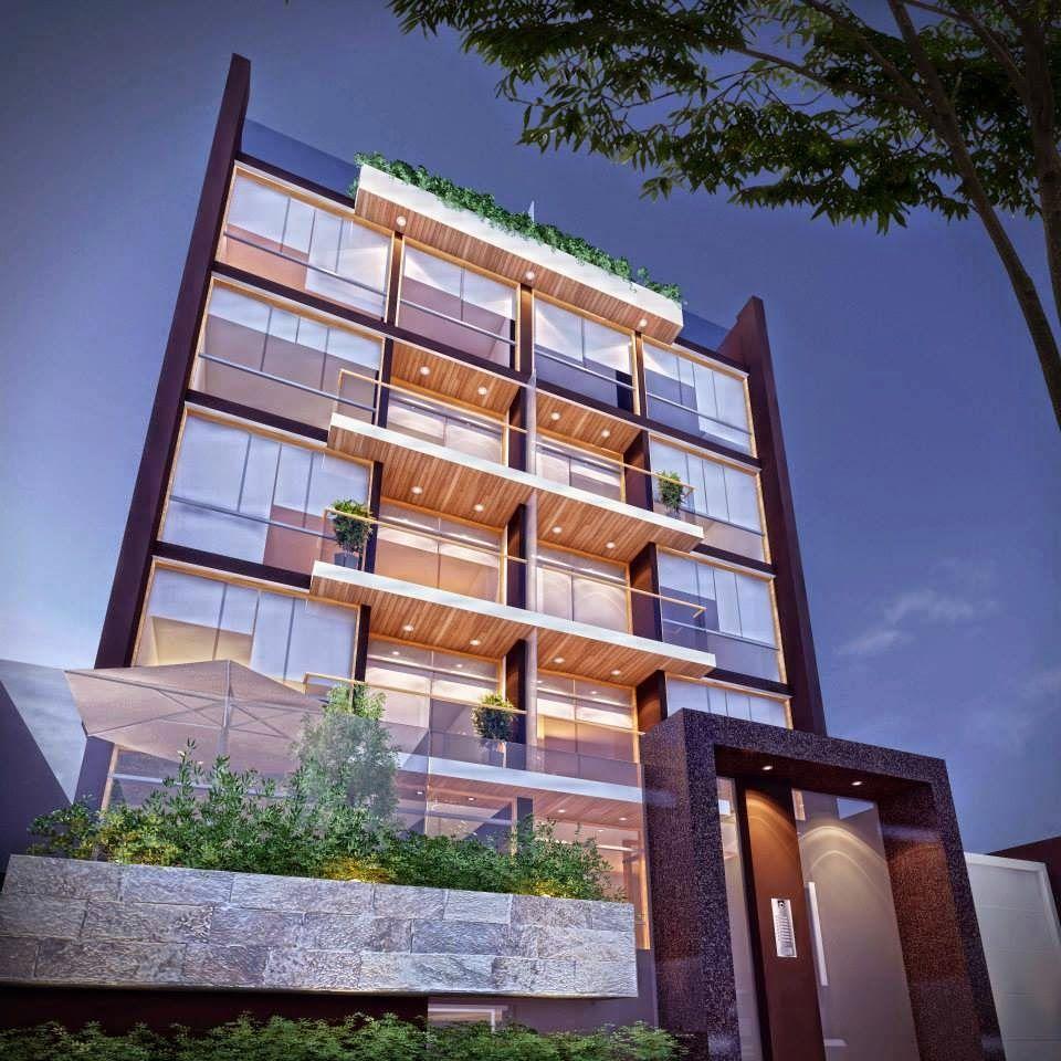 Fachadas de edificios de departamentos arquitectura for Apartamentos modernos minimalistas