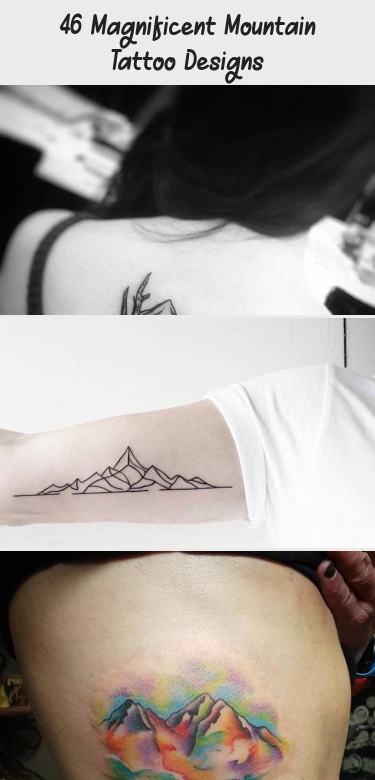 Photo of 46 Magnificent Mountain Tattoo Designs – Beste Tätowierung –  Berge und Crescen…