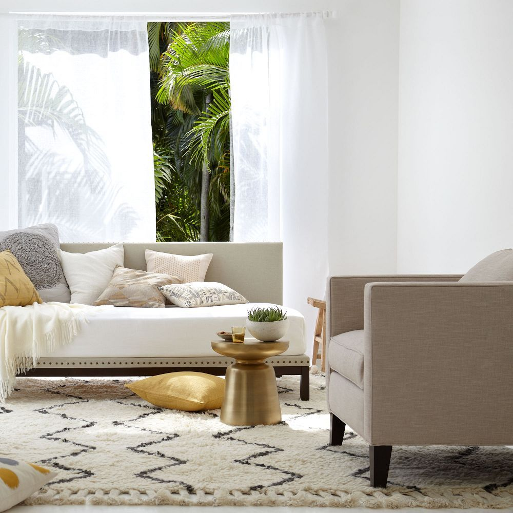 Souk Wool Rug Upholstered Daybed