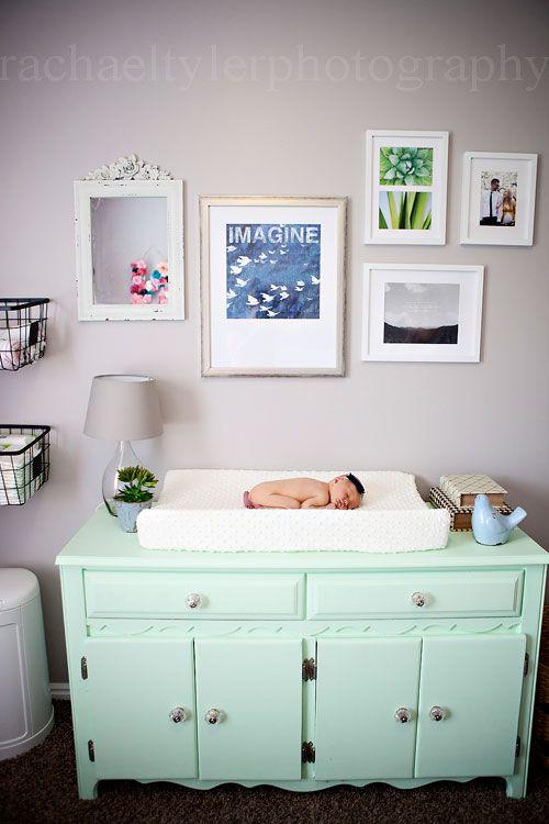 Mint Navy Pink Gold Nursery Utah Newborn Photography Www Rachaeltyler