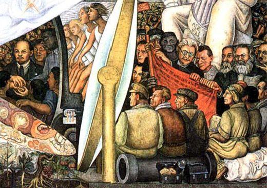 El mural que rockefeller encarg a diego rivera y luego for Diego rivera mural new york