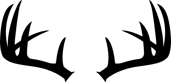 Black Silhouette Of Deer Antlers Use These Free Images For Your