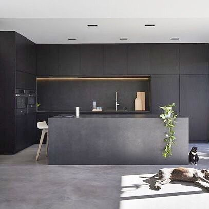 All Black Kitchen Designed By Dko Architecture Photo By Peter