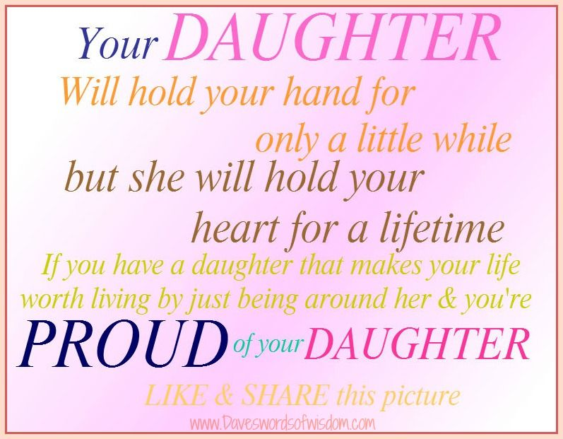 Daveswordsofwisdom.com: I'm Proud Of My Daughter