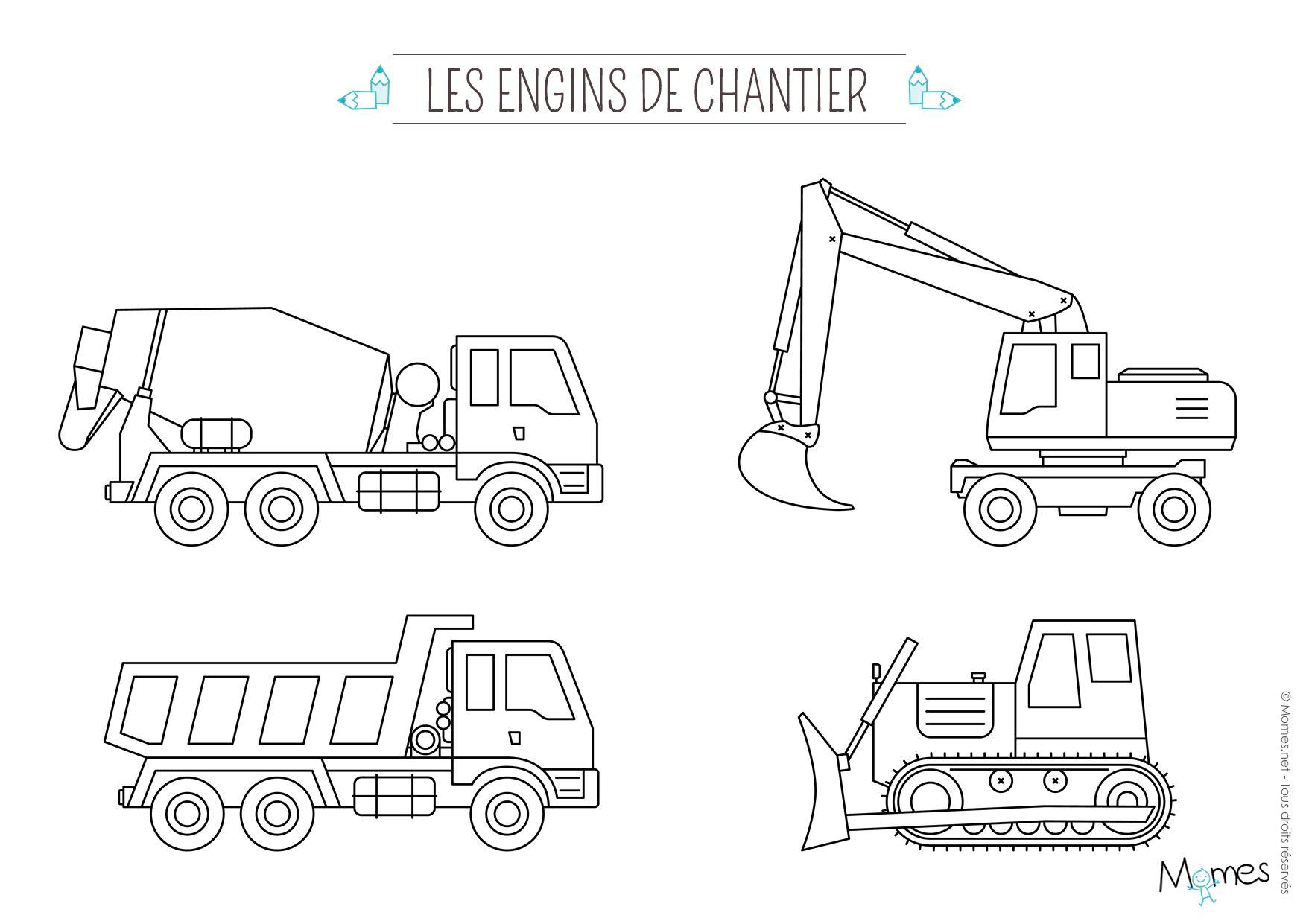Coloriage Camion Tracteur.Coloriage Camion Printable Transportation Construction Et Cars