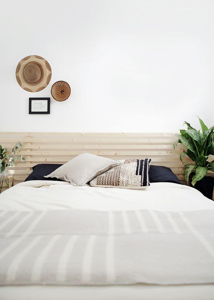 Diy wood slat headboard in 2020 slatted headboard bed