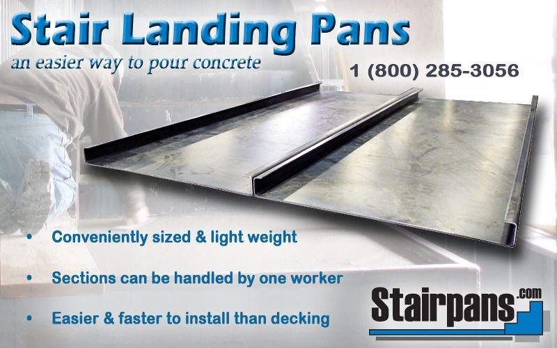 Best Stair Landing Pans The Better Way To Pour Concrete Poured Concrete Concrete Stair Landing 400 x 300