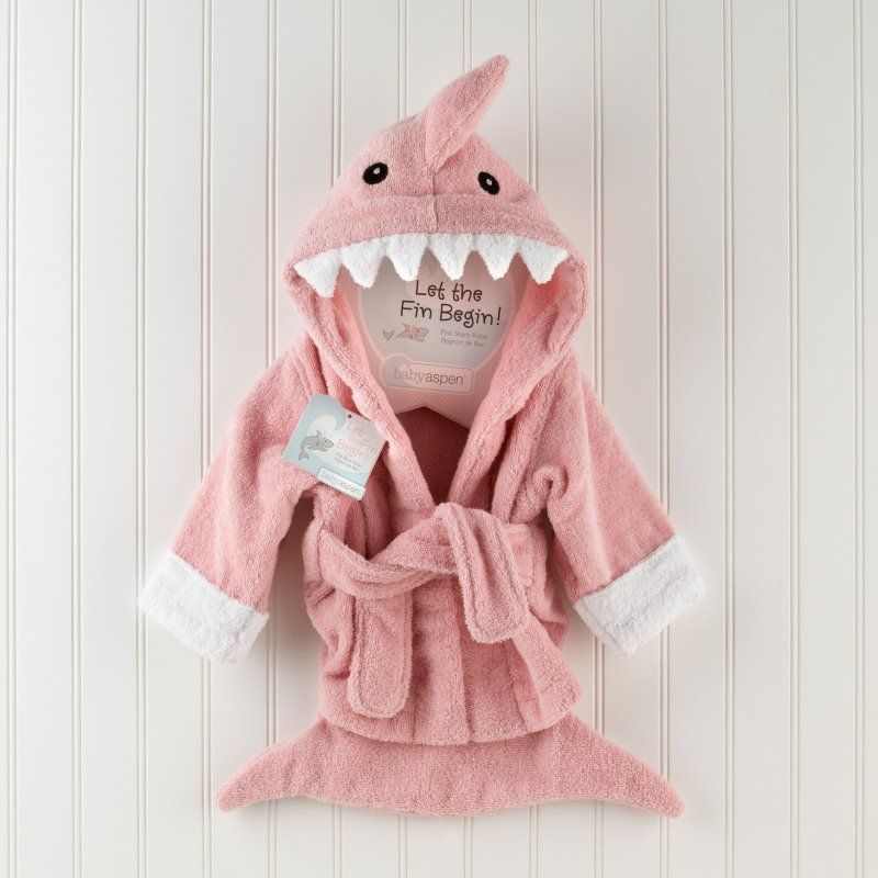 super cheap compares to moderate cost boy Baby Aspen Let the Fin Begin Pink Shark Robe, Infant Girl's ...