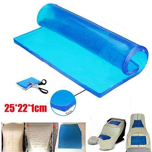 25*22*1cm Comfort Motorcycle Seat Gel Pad Blue Shock Absorption Mats Cushion New