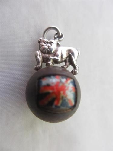 Sterling Silver Lucky Touch WUD British Bull Dog Victory Charm | eBay