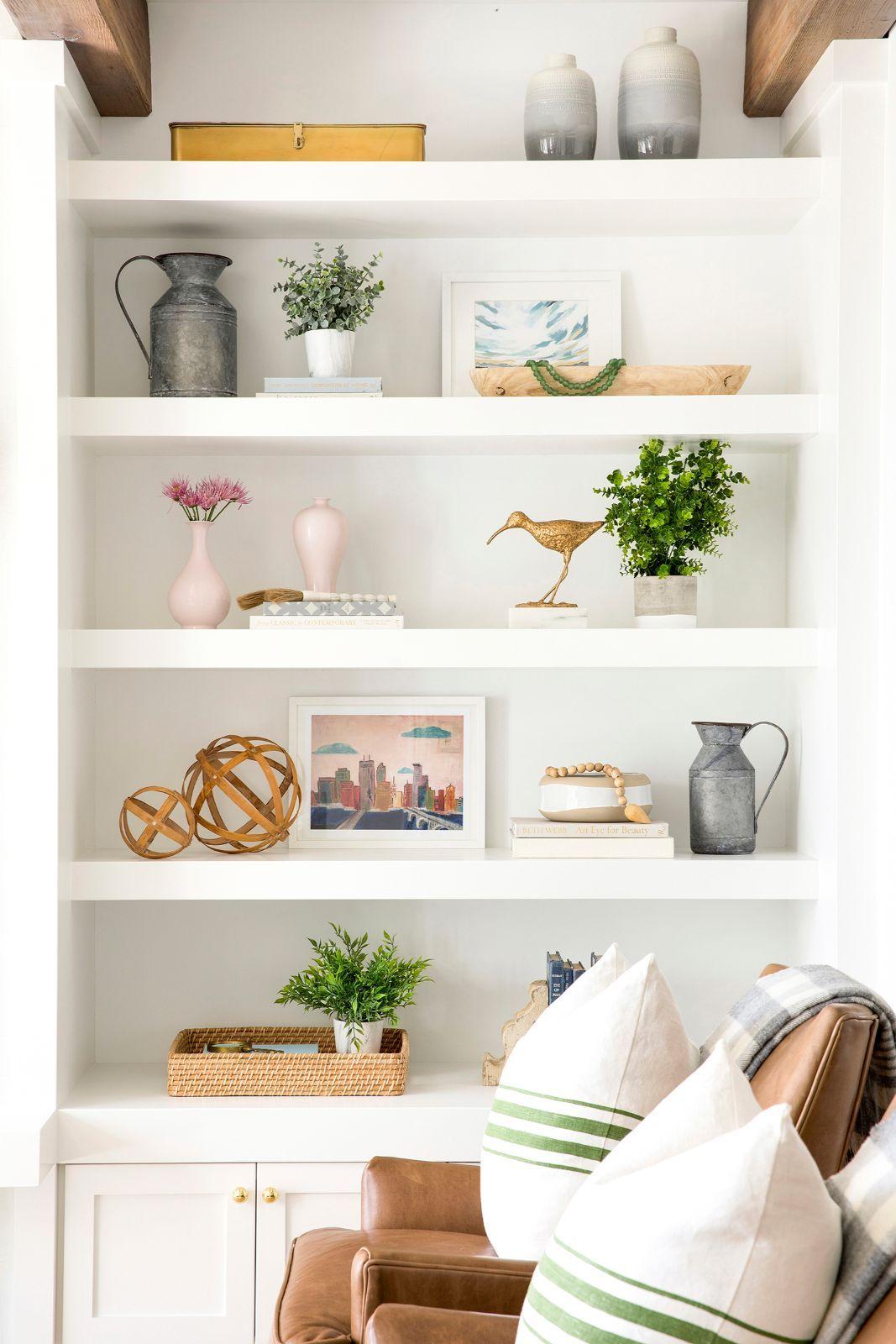Bria Hammel Interiors In 2020 Shelf Decor Living Room Living Room Shelves Bookcase Decor