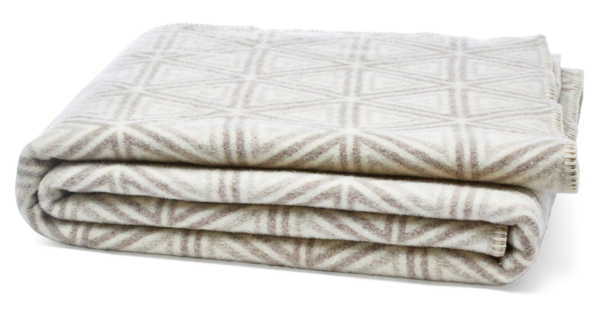 Exclusively for One Kings Lane, this reversible, oversize throw features a geometric pattern in ivory and clay. A coordinating whip-stitch border completes the look of this durable,...