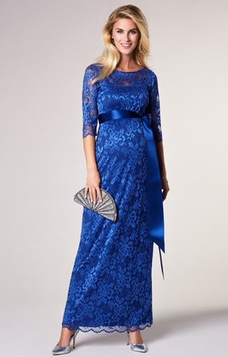 ec1e6cdf6a Our bestselling Amelia lace maternity dress is regal and charming. Now  available in full length windsor blue. As worn by Princess Madeleine of  Sweden.