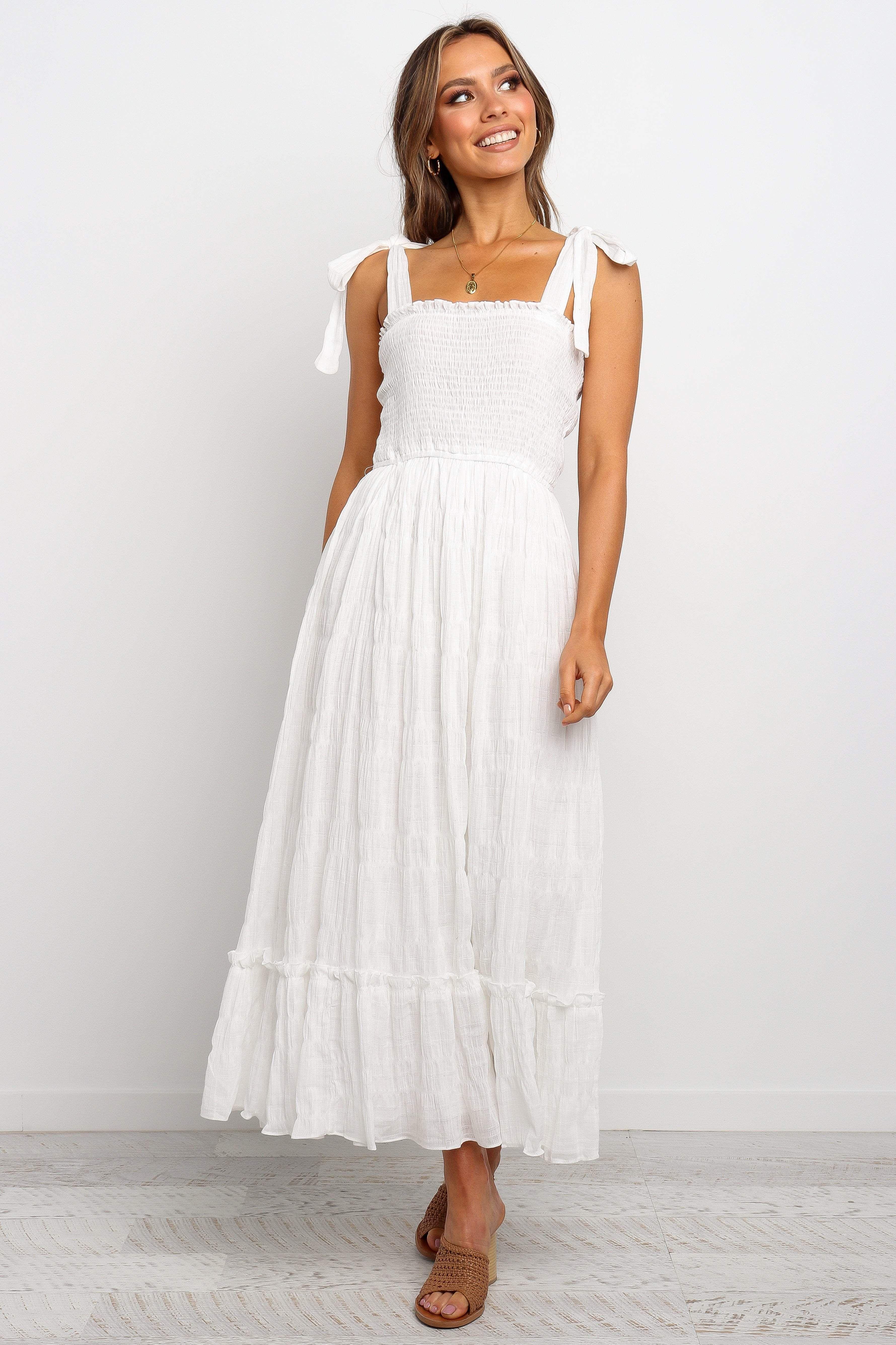 Janie Dress White M Casual White Dress White Dress Elven Dress [ 5338 x 3559 Pixel ]