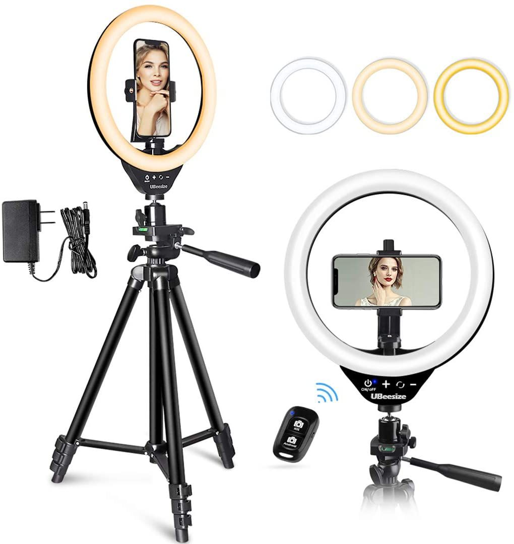 10 Led Ring Light With Stand And Phone Holder Ubeesize Selfie Halo Light Ring Light With Stand Led Ring Light Selfie Ring Light