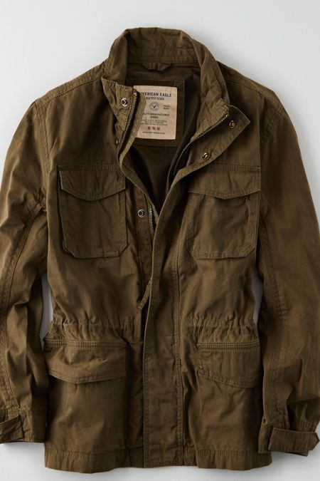 Shop the AEO Military Jacket from American Eagle Outfitters. Check out the  entire American Eagle Outfitters website to find the best items to pair  with the ... 57004f1cc092
