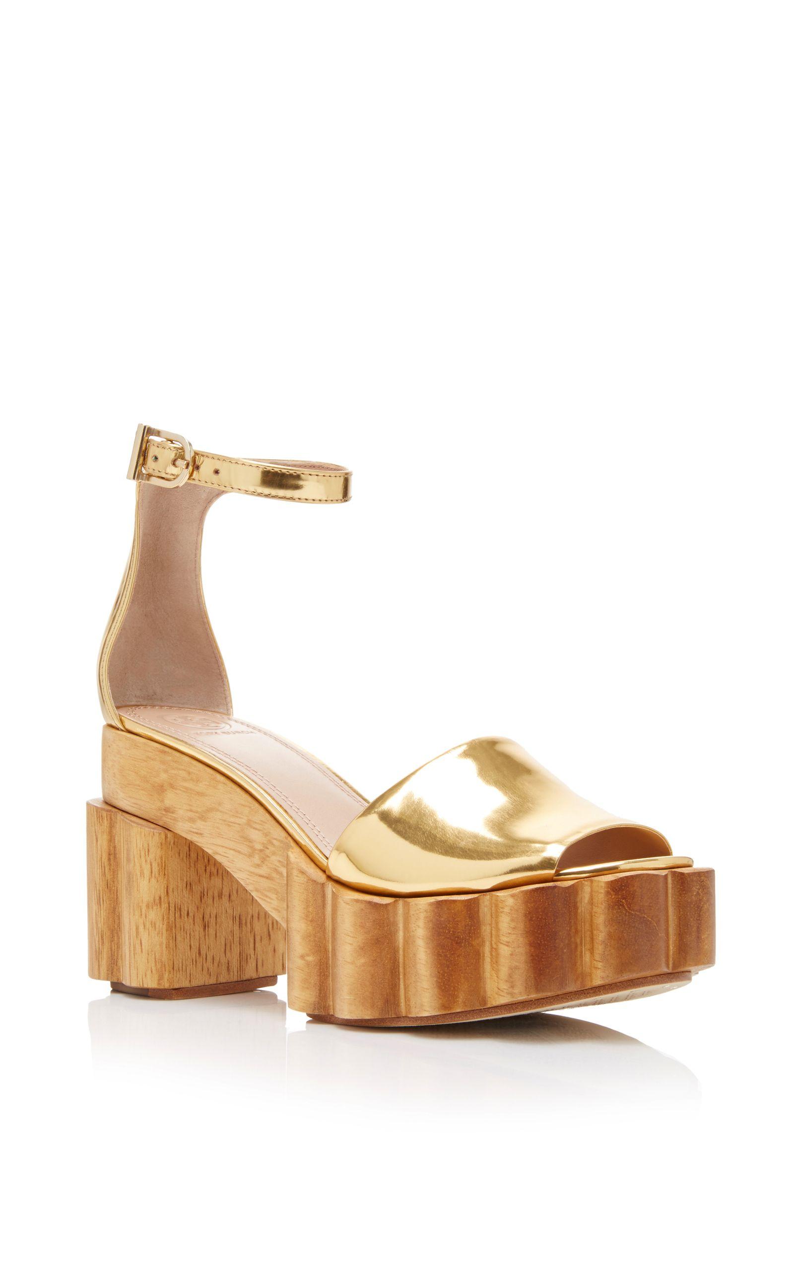 Tory Burch Metallic Platform Sandals discount top quality outlet cheap quality sneakernews cheap online cheap sast 4bV2urnIj