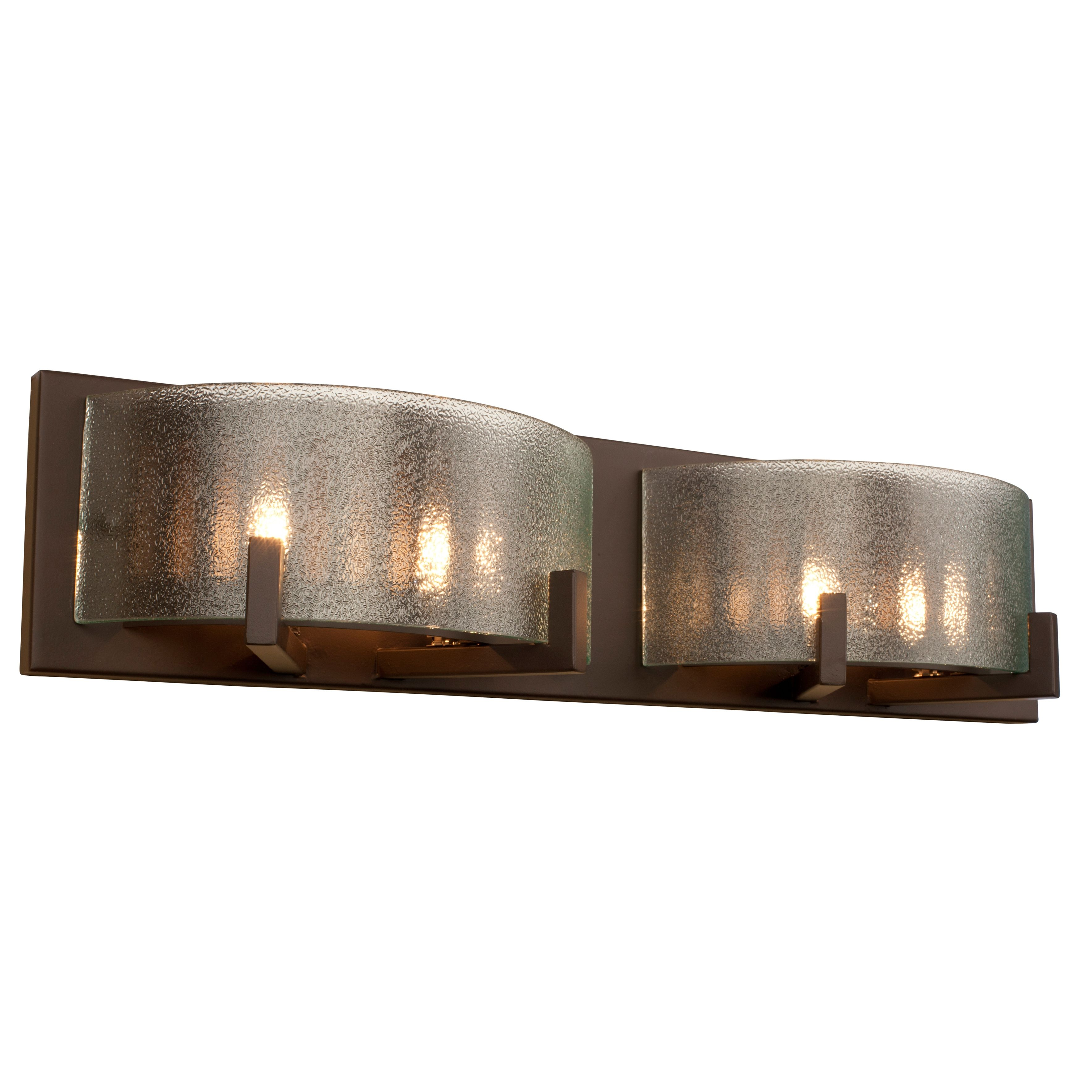 Alternating Current Firefly Six Light Warm Bronze Micro Texture Glass Bath  Fixture On SALE