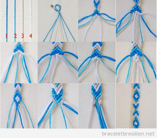 Célèbre Tutoriel pas à pas, bracelet de l'amitié en forme de V | Bracelets  TS08