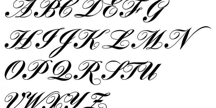 Wedding A Z Styles Font Tattoo Lettering Fonts Script