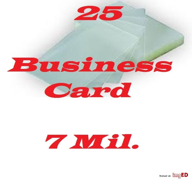 7 Mil Business Card 25 Pk Laminating Laminator Pouches Sheets 2 1 2 X 3 3 4 American Spirit Cigarettes American Spirit Cards