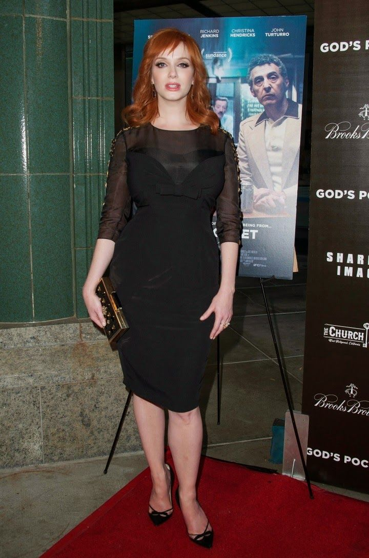Christina Hendricks in a Jenny Packham look at the 'God's Pocket' LA premiere