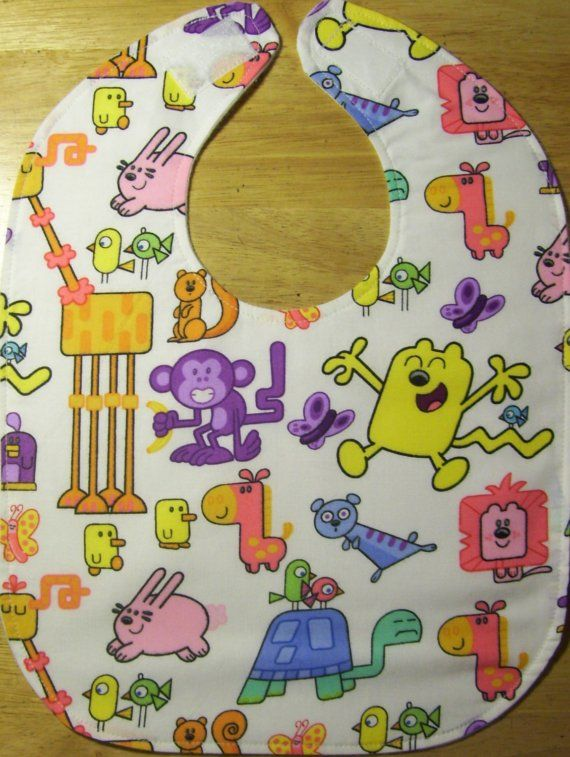 Wow Wow Wubbzy Oversized Baby / Toddler Bib by TheBestGrandmaEver, $5.00