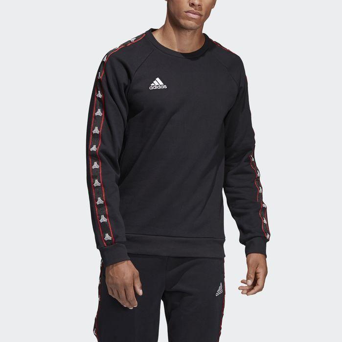 5570a222c4 TAN Tape Heavy Crew Sweatshirt Black Mens   Products   Crew ...