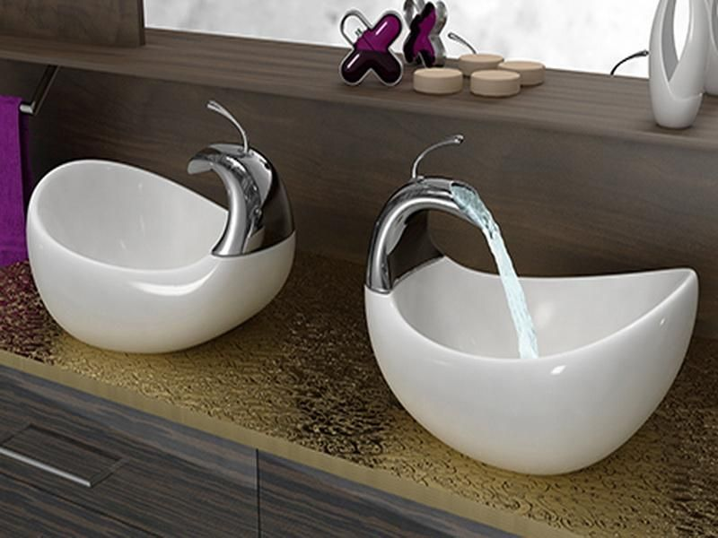 Charmant His And Hers Bathroom Sinks  Bathrooms Vessel Sinks Design : Cool Bathroom Vessel  Sinks Design Ideas