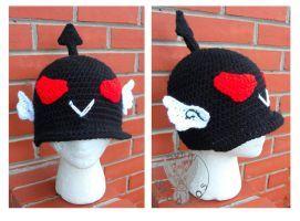 Crochet Biker Helmet by TheCrochetDragon