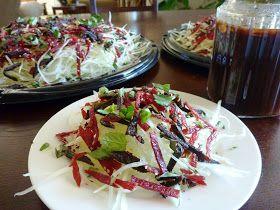 The Spices Of Life . . .: Gỏi Đu Đủ Khô Bò Gan Cháy (Vietnamese Papaya Salad with Beef Jerky and Liver Jerky)