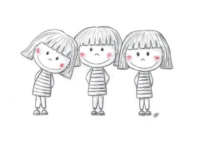 نقاشی کارتونی دخترانه کودکانه