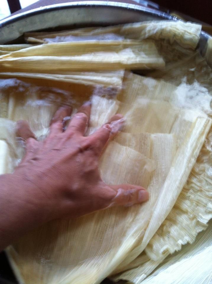 Corn Husks For Tamales Place The Corn Husks In A Large Container And Cover Them With Hot Water Let Them Soak And Soften For A Tamales Corn Husk Tamale Recipe