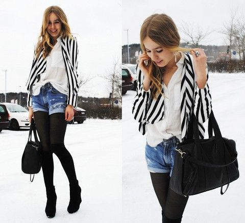 STRIPES IN THE SNOW STORM (by Frida Johnson) http://lookbook.nu/look/1336375-STRIPES-IN-THE-SNOW-STORM